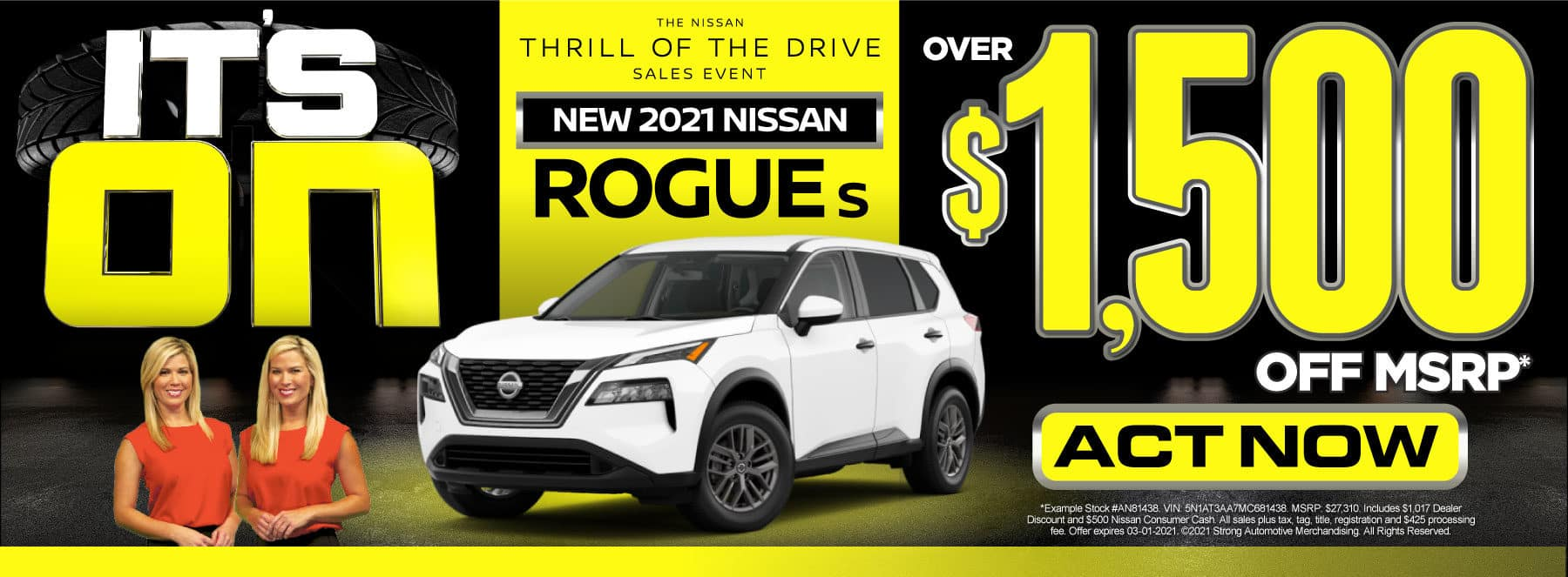 New 2021 Nissan Rogue - Over $1,500 off MSRP - Act Now