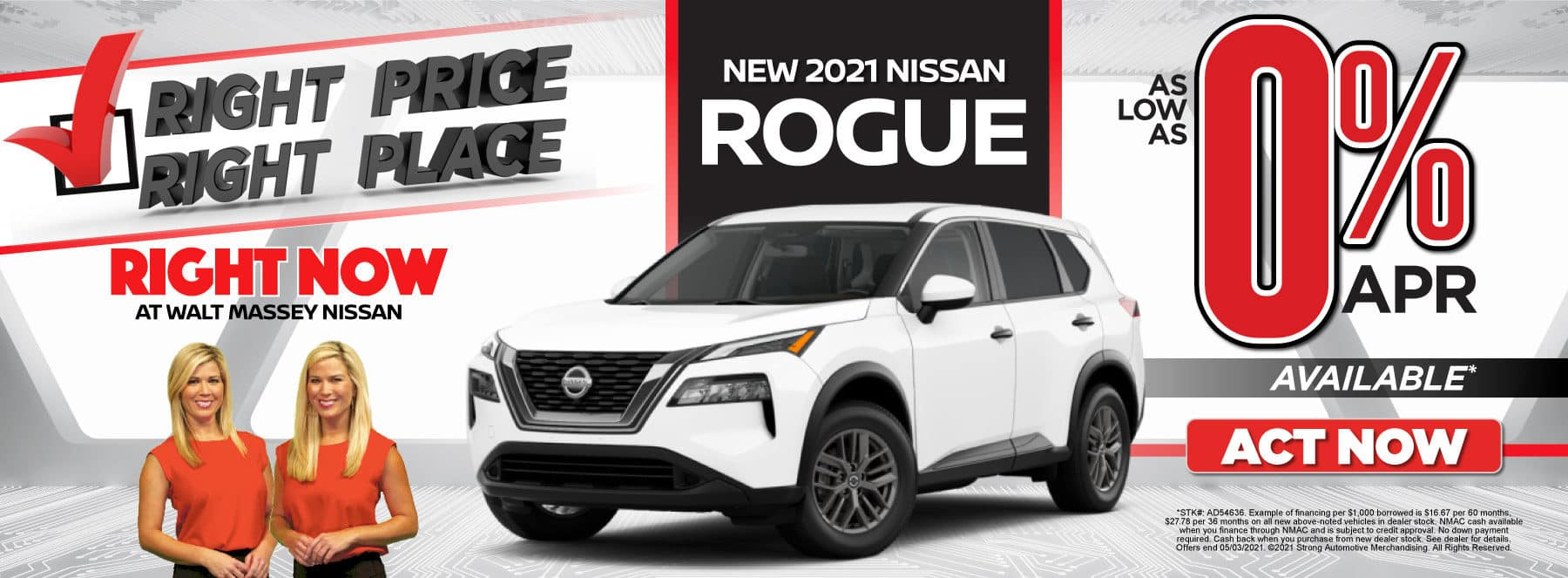 New 2021 Nissan Rogue - As low as 0% APR available - Act Now