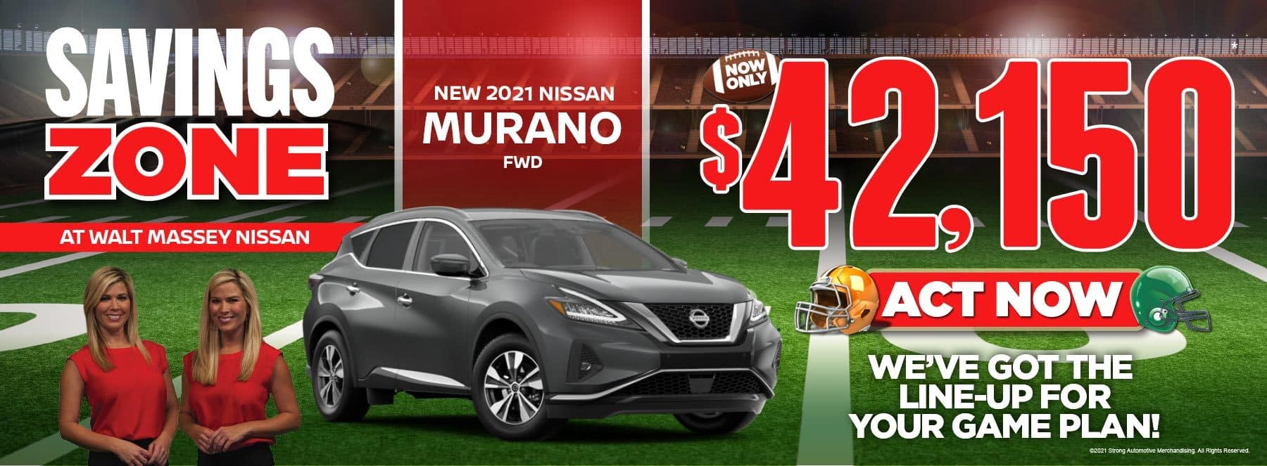 New Nissan Murano FWD Now Only $42,150. Act now!